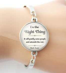 Do-The-Right-Thing-Mark-Twain-Celebrity-Quotes-Bracelet-Inspirational-Glass-Cabochon-Jewelry-Funny-Bangle-Women